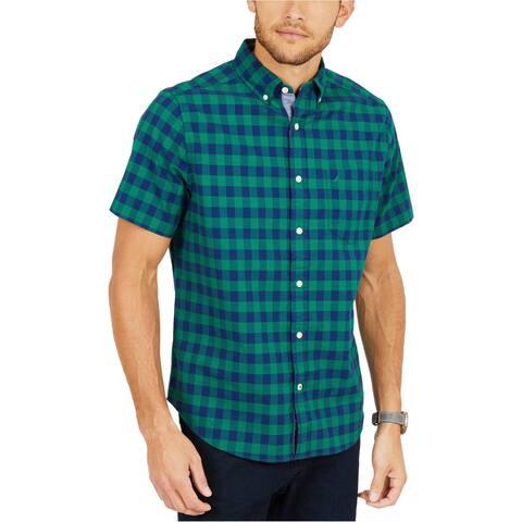 Nautica Mens Classic Fit Check Button Up Shirt