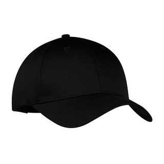 6-Panel Twill Cap, Color: Black, Size: One Size