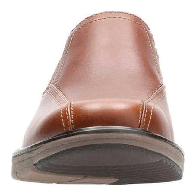 dad167c8 Clarks Men's Cushox Step Slip-On Dark Tan Full Grain Leather