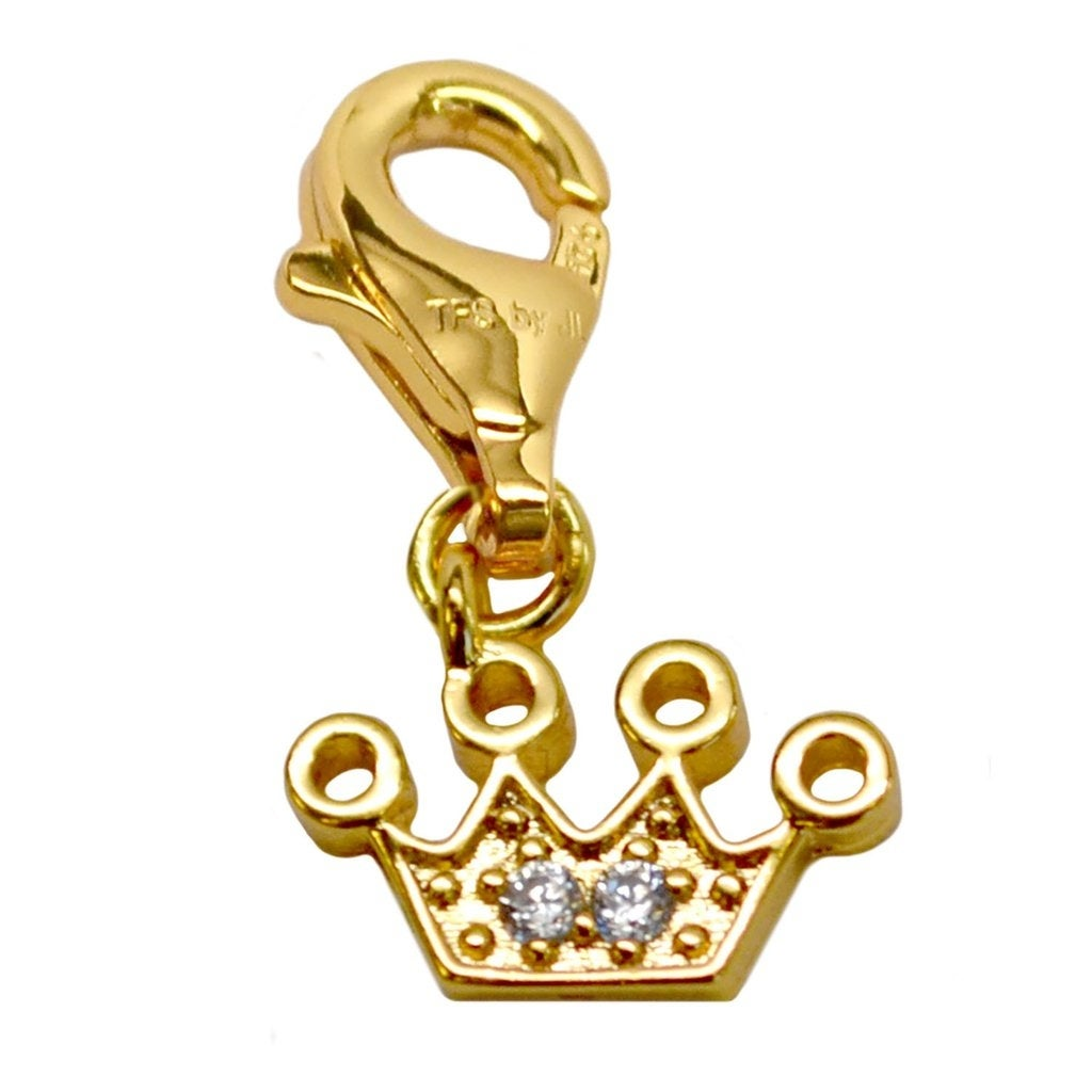 Julieta Jewelry Crown CZ Clip-On Charm - Thumbnail 0