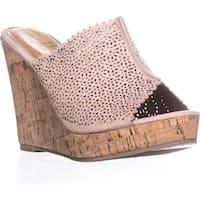 callisto Lovie Embellished Platform Wedge Sandals, Beige - 11 us
