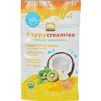 Happy Family - Organic Snacks - Apple Spinach Pea Kiwi ( 8 - 1 OZ)