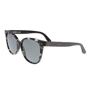 Bottega Venetta BV0044/S 002 Havana Black Square Sunglasses - havana black