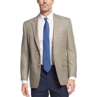 Michael Kors Tan Houndstooth Windowpane Sportcoat Blazer 40 Regular 40R