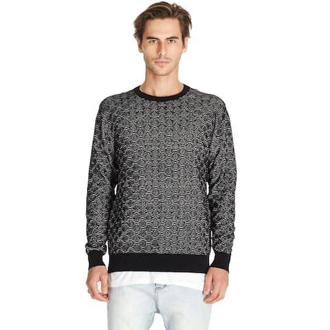 Zanerobe Mens Hash Crewneck Knit Sweater X-Large Black/Grey Marle