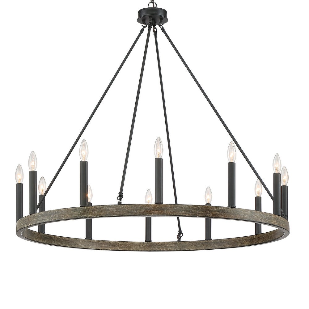 The Gray Barn Highclere 12-light Wagon Wheel Chandelier