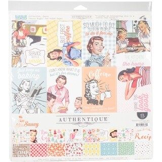 """Authentique Collection Kit 12""""X12""""-Saucy"""