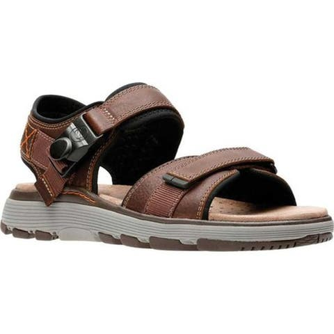 2bff777d9 Clarks Men s Un Trek Part Active Sandal Dark Tan Full Grain Leather
