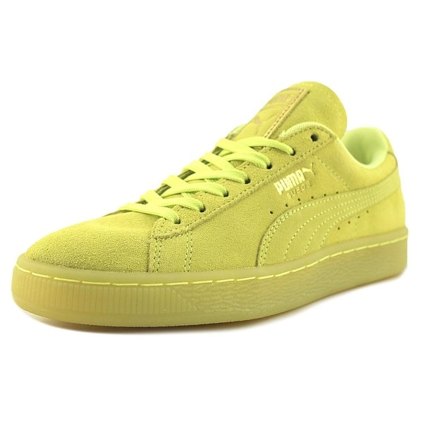 Puma Suede Classic Iced Women Round Toe Suede Yellow Sneakers