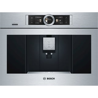 Bosch BCM8450UC 24 Inch Wide Built-In Automatic Coffee Machine with Home Connect and Aroma DoubleShot