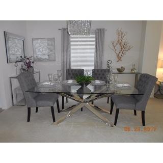 Avingdon Tufted Wingback Hostess Chairs (Set of 4)
