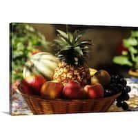 Premium Thick-Wrap Canvas entitled bowl of summer fruit