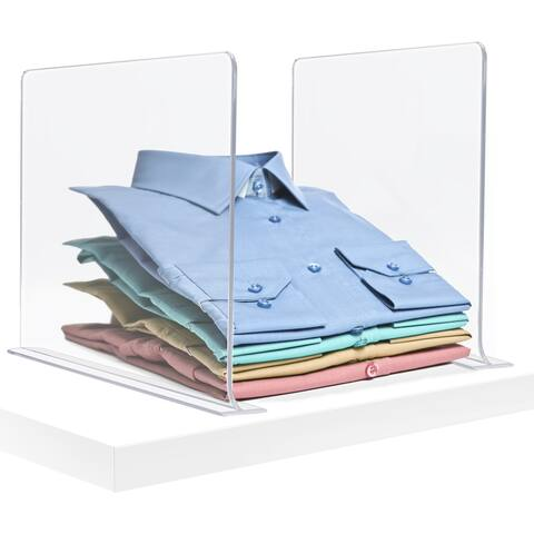 Acrylic Adhesive Shelf Divider Organizers for Closet Organization