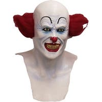 Adult Scary Clown IT Costume Mask - standard - one size