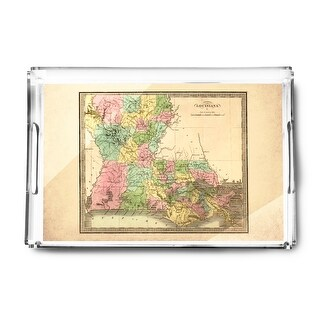 Louisiana - (1848) - Panoramic Map (Acrylic Serving Tray)