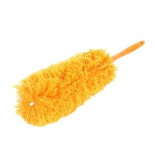 Home Household Plastic Nonslip Handle Sweeping Duster Cleaner Brush Orange