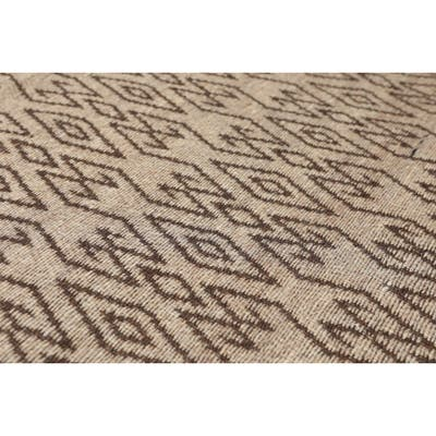 "Hand Woven Tan,Chocolate Flatweave Area Rug Polyproplene Modern & Contemporary Oriental Area Rug (5x7) - 5'1"" x 7'1"""