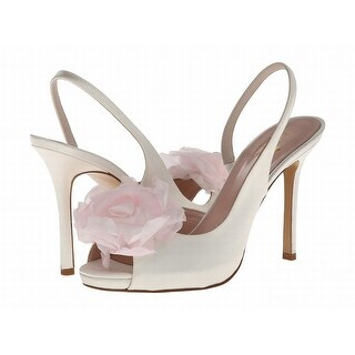 Kate Spade NEW White Ivory Shoes Size 8.5B Flower Open Toe Heels