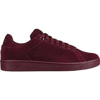 K-Swiss Women's Clean Court SDE CMF Sneaker Burgundy