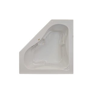 "Jacuzzi J5D6060 WCL 1XX 60"" x 60"" Signature Corner Whirlpool Bathtub with 6 Jets, Air Controls, Center Drain and Left Pump"