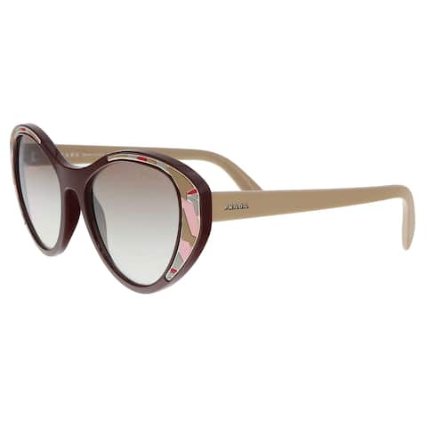 3dceb59928102 Prada PR 14US LJ84O0 Bordeaux Cat eye Sunglasses - 55-18-140