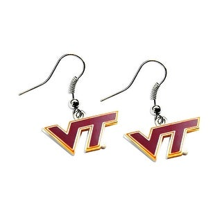 Virginia Tech Hokies Dangle Logo Earring Set NCAA Charm Gift