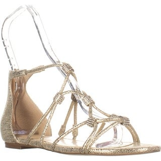 Ivanka Trump Chaley2 Glitter Sandals , Gold, 7.5 US, Gold
