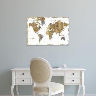 Easy Art Prints Wild Apple Portfolio's 'Gilded Map' Premium Canvas Art