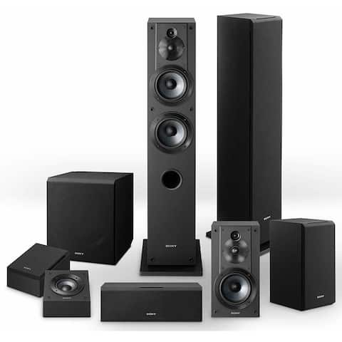 Sony Complete Speaker System with SSCS3 (2), SSCS5, SSCS8, SACS9 - Black