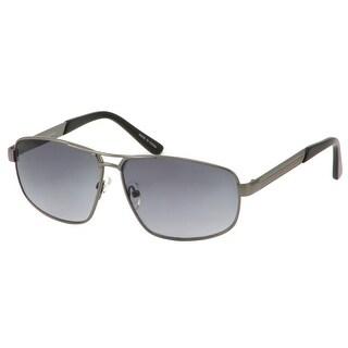 Perry Ellis Mens Sunglasses Gunmetal Combo Aviator PE40-1, Includes Perry Ellis Pouch, 100% UV Protection