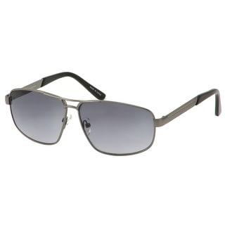 perry ellis mens sunglasses gunmetal combo aviator pe401 includes perry ellis pouch