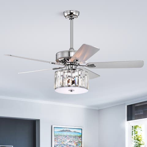 """52"""" Nira 5 Blade Chandelier Ceiling Fan with Remote Control and Light Kit Included"""