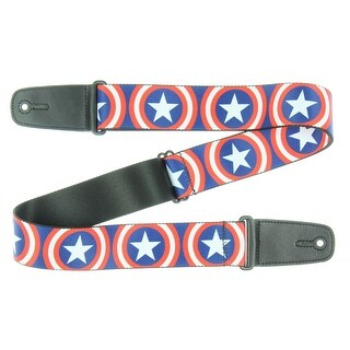 "Buckle-Down 2"" Captain America Shield Guitar Strap"