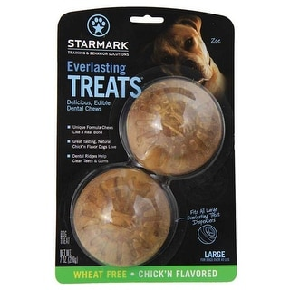 "StarMark Everlasting Treat Veggie Chicken 2 pack Medium Brown 2.5"" x 2.5"" x 1"""