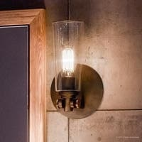 """Luxury Vintage Indoor Wall Light, 11""""H x 6.5""""W, with Casual Style, Retro Design, Estate Bronze Finish"""