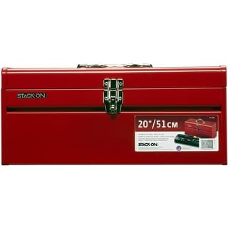 Stack-On R-420 General Purpose Steel Tool Box, Red, 20""