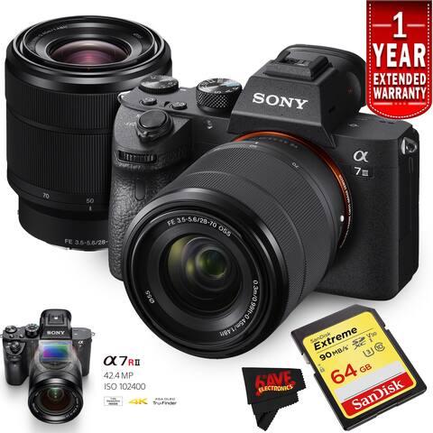 Sony a7 III Camera Lens Intl Version Starters Kit