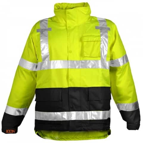 Tingley J24122-MD-01 Icon Hi-Vis Waterproof & Breathable Rain Jacket, Medium