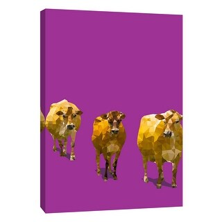 """PTM Images 9-109119  PTM Canvas Collection 10"""" x 8"""" - """"Fractal Cows"""" Giclee Cows Art Print on Canvas"""