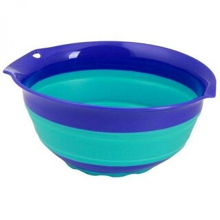 Squish 41004 Collapsible Mixing Bowl, Blue, 3 Quart