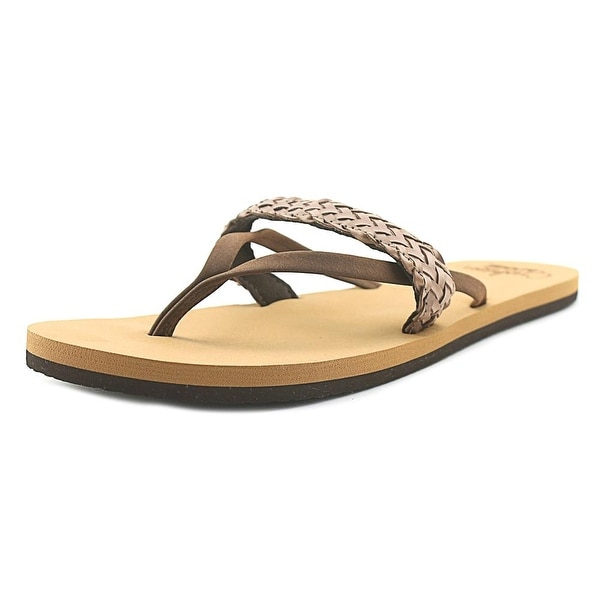 Reef Wild Women Open Toe Synthetic Brown Thong Sandal