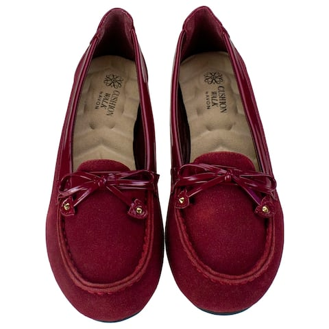 Red Cushion Walk Loafers - Woman's Size 6