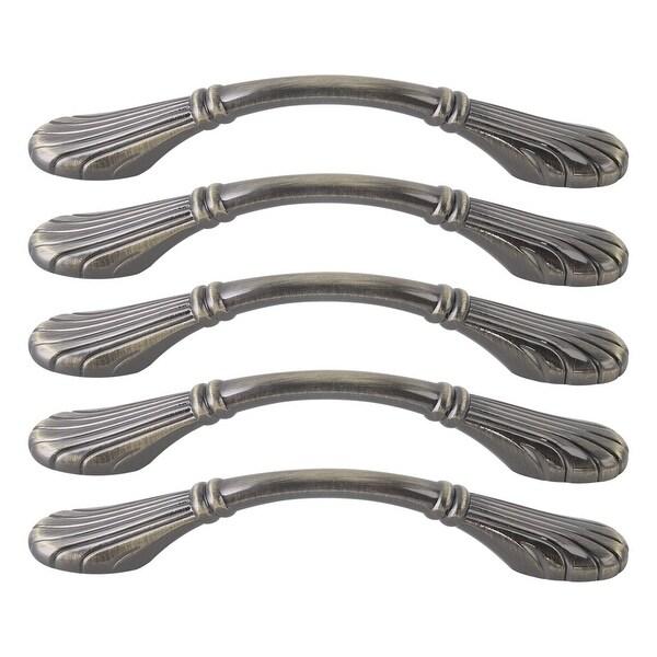 "Cabinet Handles Pull Zinc Alloy 5"" Hole Center for Furniture Door Cabinet Cupboards Wardrobe 5pcs Bronze Tone"