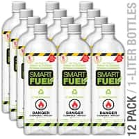 Anywhere Fireplace SF12 Smart Fuel Liquid Bio-ethanol fuel 12 pack liter bottles