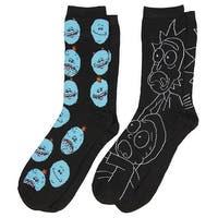 Rick And Morty Meeseeks And Rick Men's 2 Pack Crew Socks
