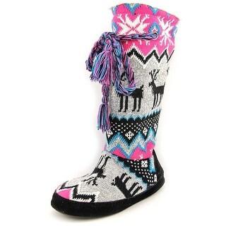 MUK LUKS Womens Blissful Closed Toe Pull On Slippers