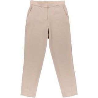 DKNY Womens Stretch Waistband Narrow Leg Dress Pants - S