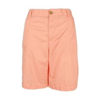 Tommy Hilfiger Women's Relaxed-Fit Cargo Shorts (Peach, 10) - peach