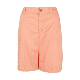 Tommy Hilfiger Women's Relaxed-Fit Cargo Shorts (Peach, 10) - peach - 10