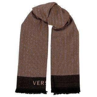 Versace IT00598 100% Wool Chevron Ladies Shawl